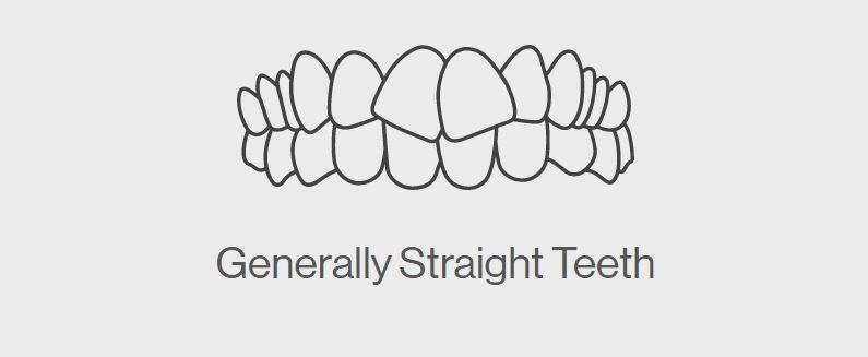 Generally Straight Teeth