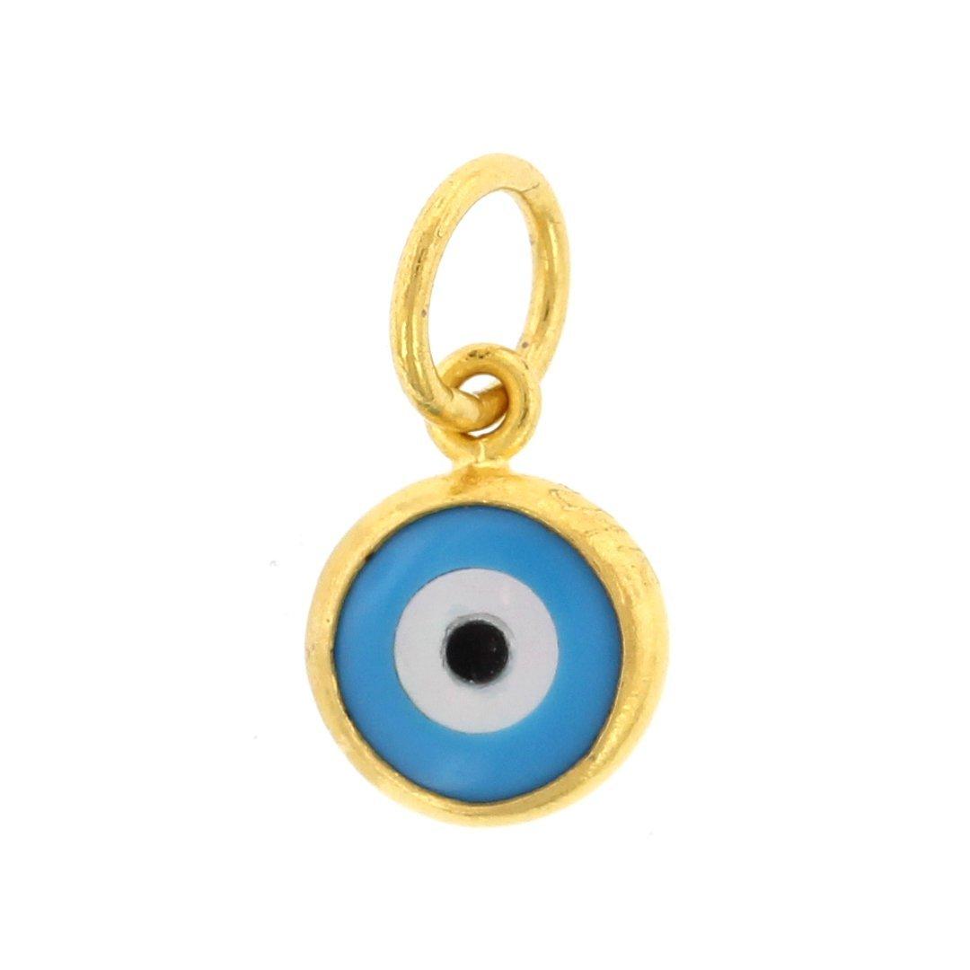 ojo turco = Amuleto contra el mal de ojo desde el origen en los Fenicios y muy popular en Grecia. El mal de ojo viene mayormente de la envidia, energía que siendo conscientes podemos transmutar.