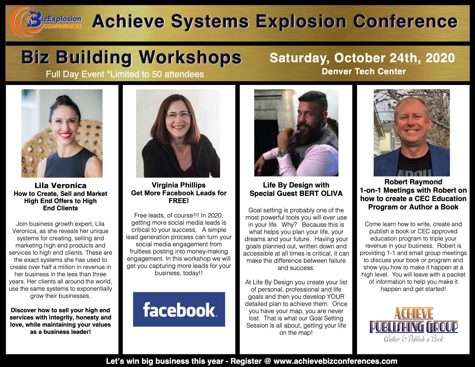 Saturday October 24th, biz building day!