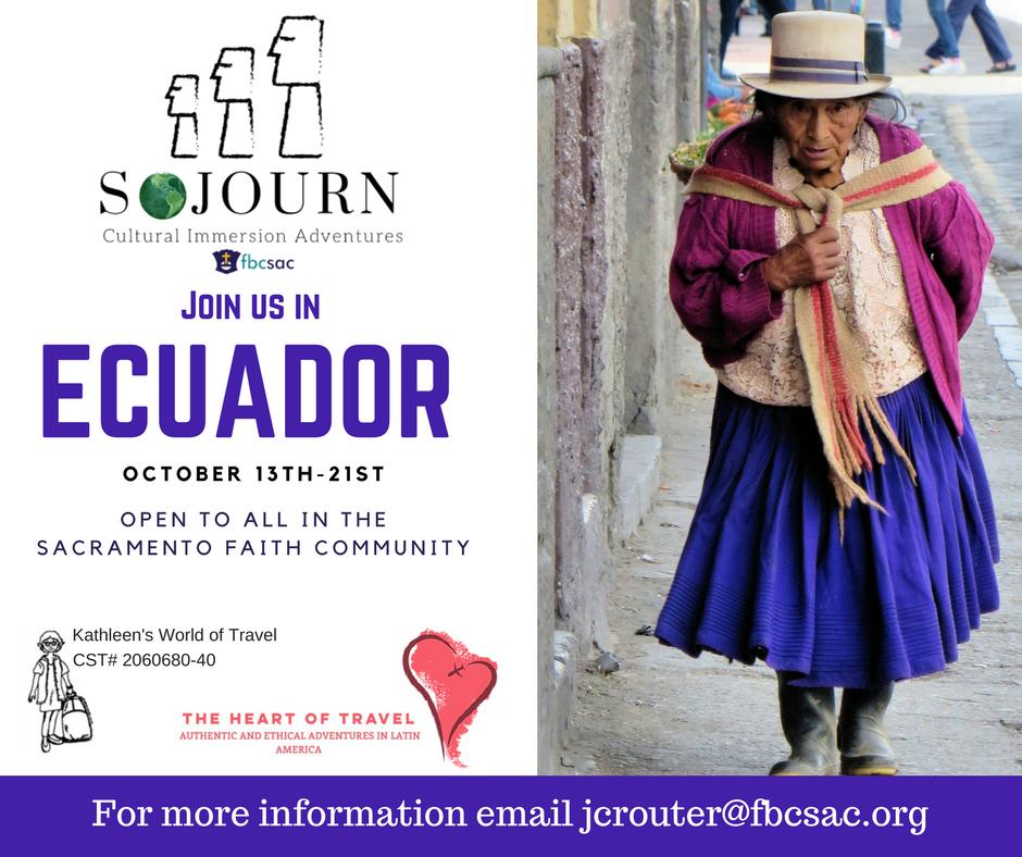 Sojourn Ecuador Registration