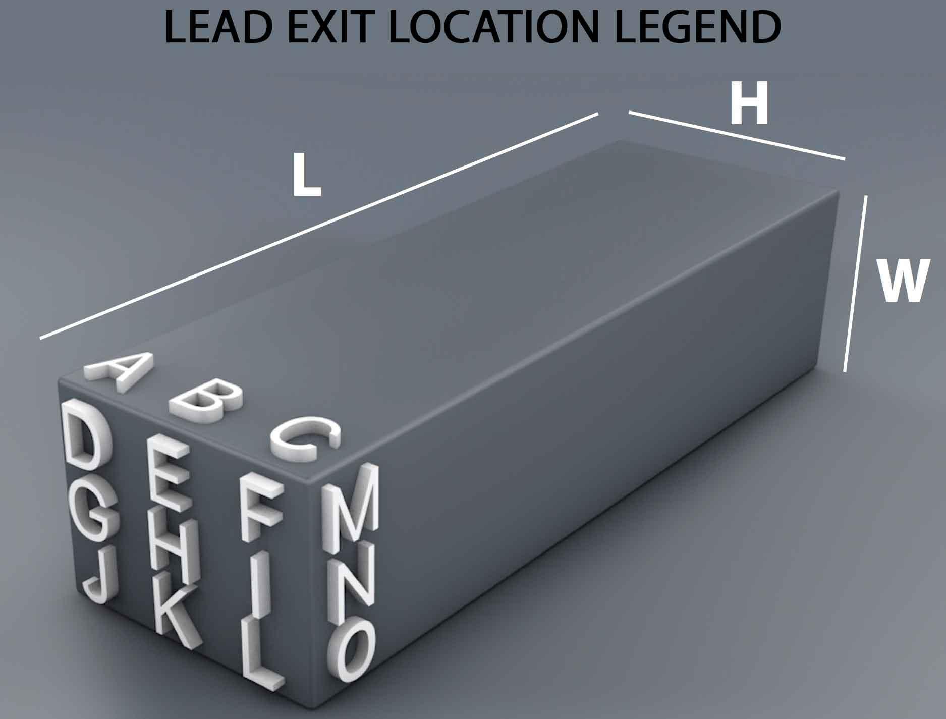 Lead Exit Location Legend
