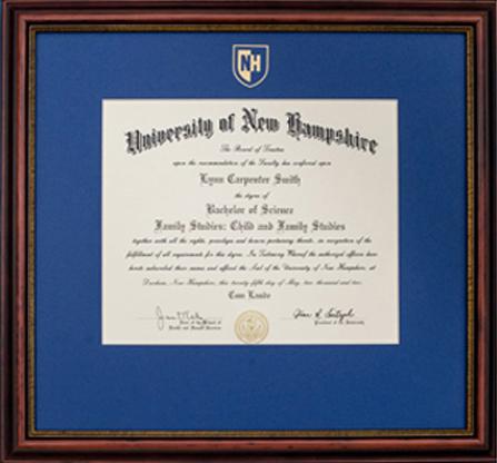 UNH Diploma Frame
