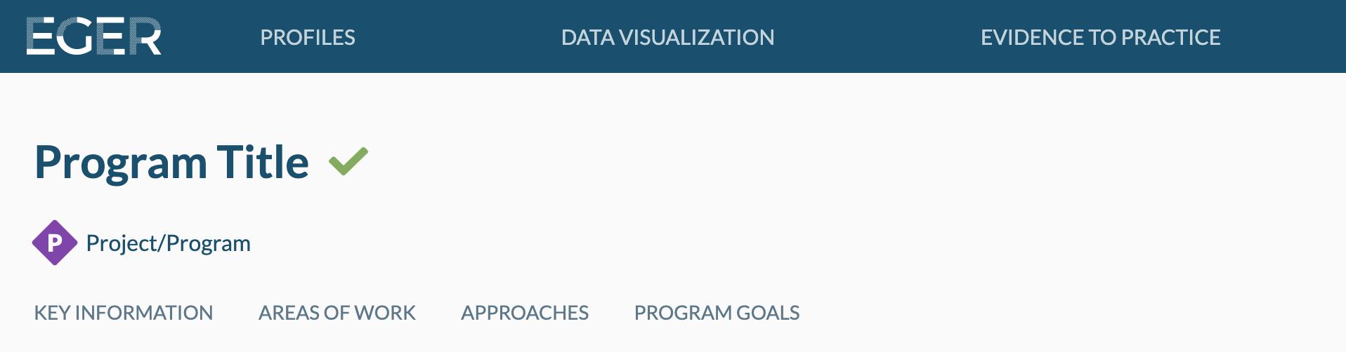 Image of program profile header