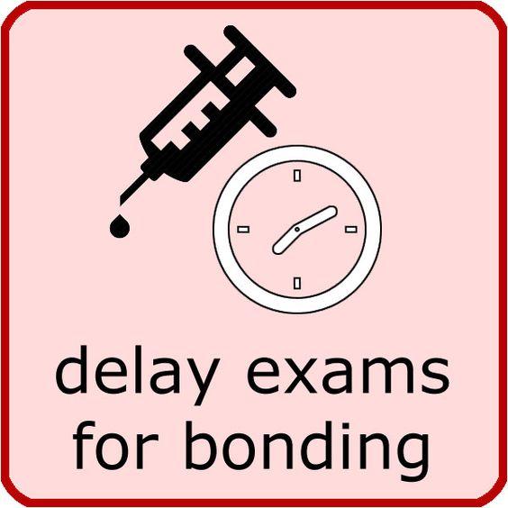 Delay exams for bonding