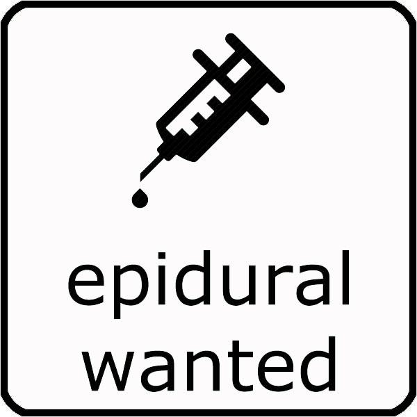 Epidural wanted