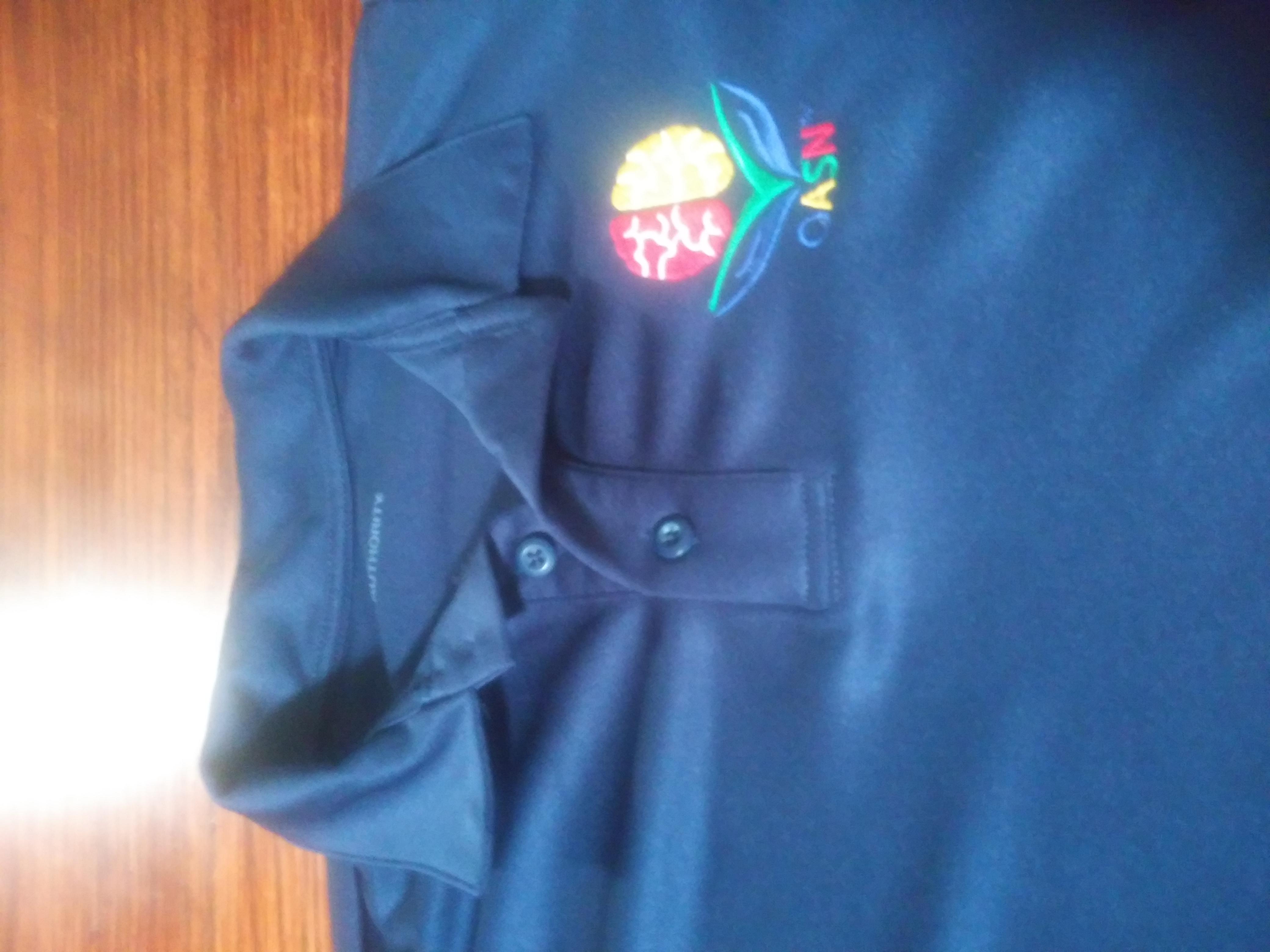 NEW OASN Navy Polyester Polo Shirt