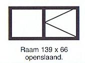 Raam 139 x 66 openstaand