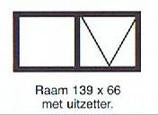 Raam 139x66 met uitzetter
