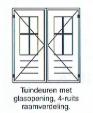 Tuindeuren met 4-ruits raamverdeling
