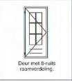 Deur met 6-ruits raamverdeling
