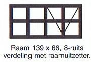 raam 139x66 8-ruits verdeling met raamuitzetter