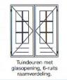 Tuindeuren met 6-ruits raamverdeling