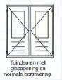 Tuindeuren met glas-opening en normale borstwering
