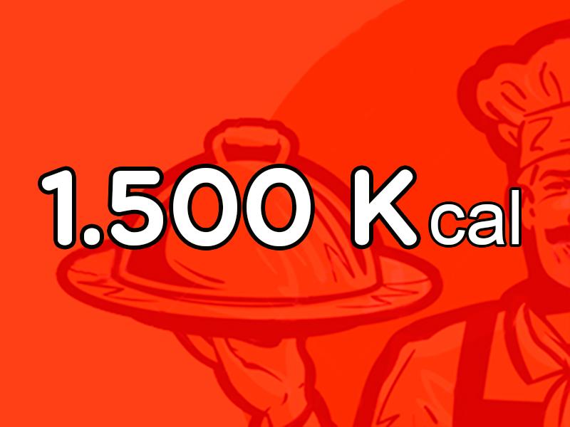 Menú Mensual de 1.500 Kcal
