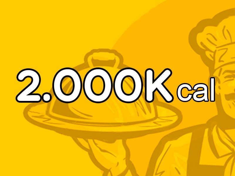 Menú Mensual de 2.000 Kcal
