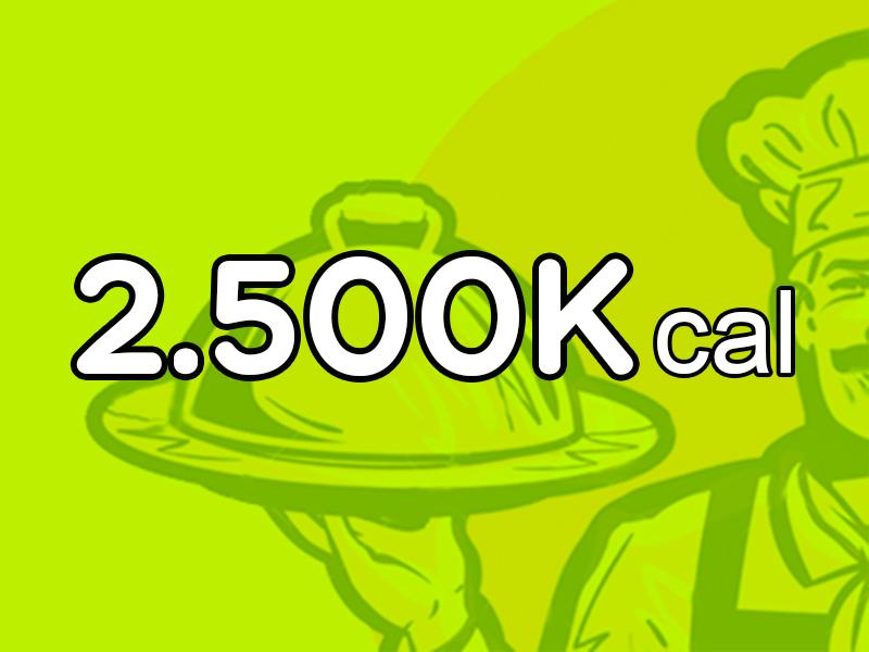 Menú Mensual de 2.500 Kcal