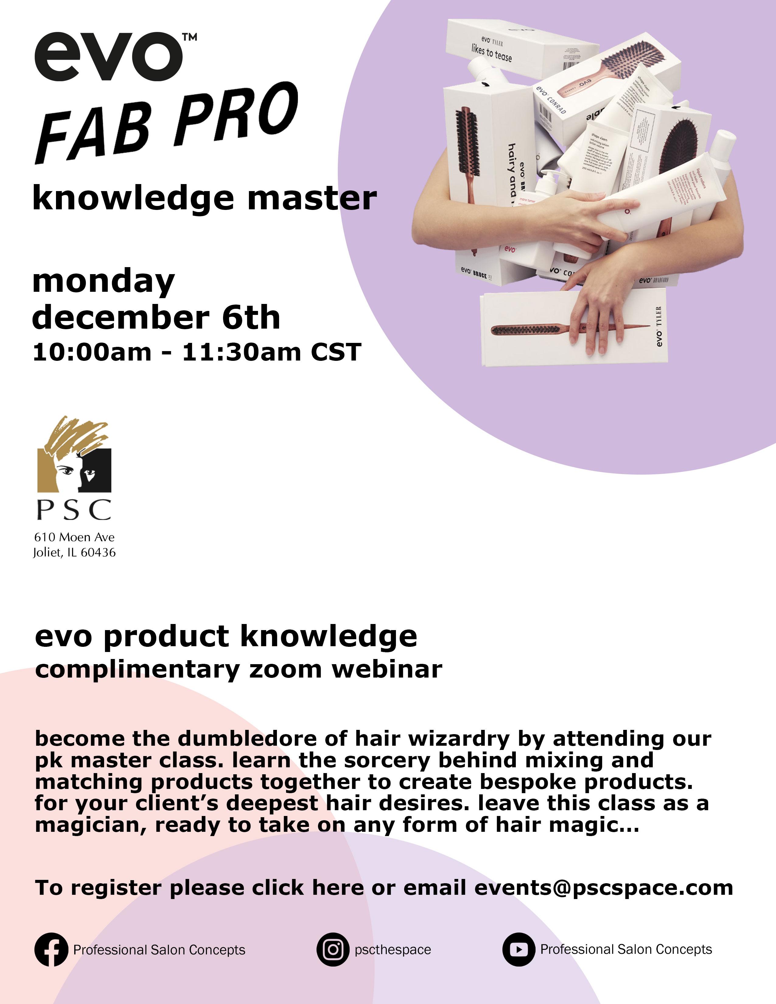 Virtual evo knowledge master