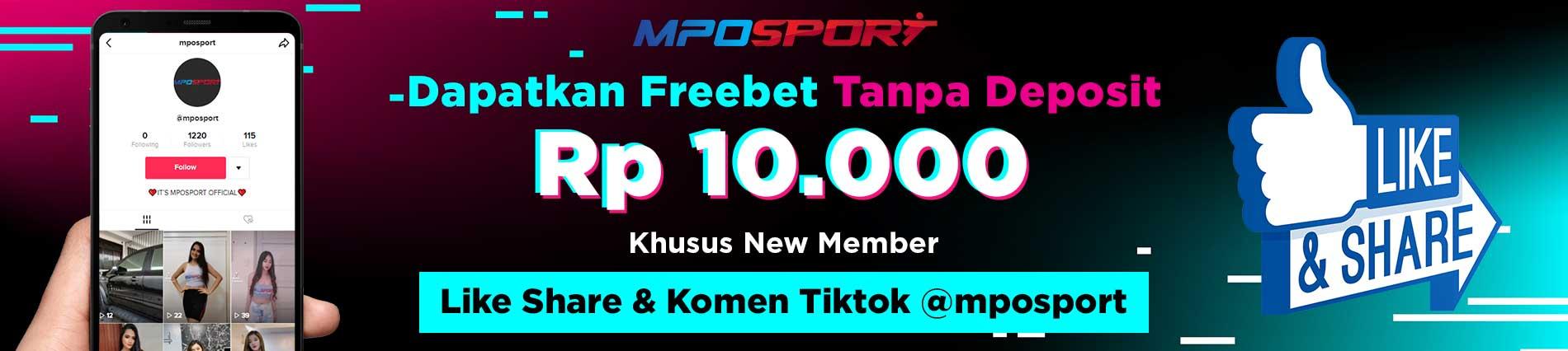MPOSPORT FREEBET TANPA DEPOSIT RP 10.000