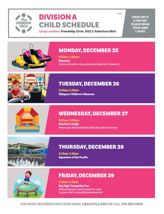 Division A Child Schedule