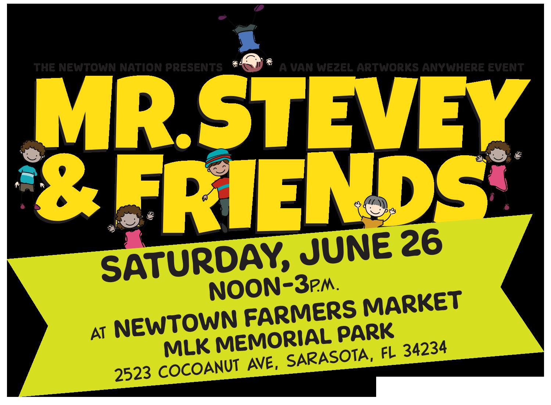 Mr. Stevey & Friends May 29 at Newtown Farmers Market