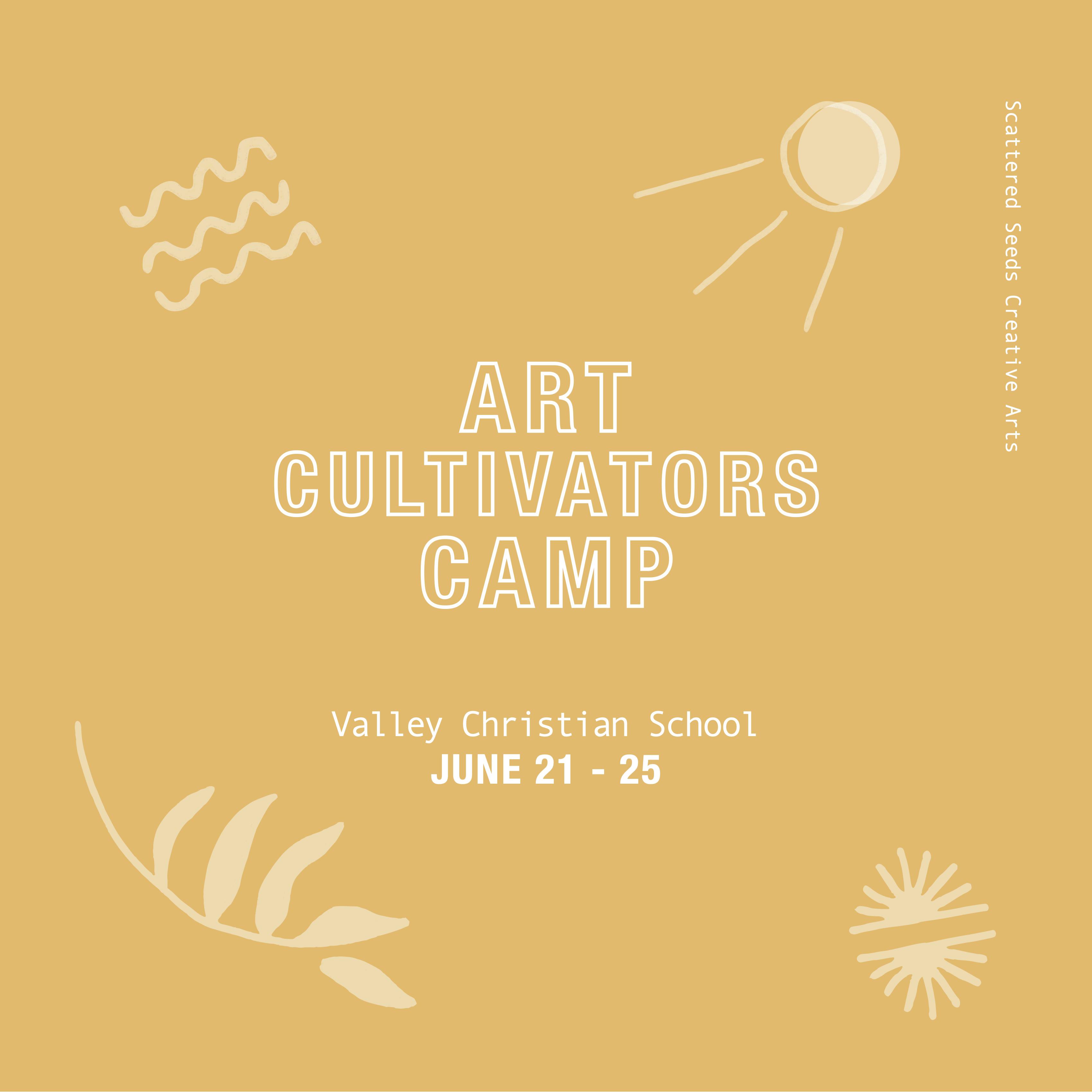 Art Cultivators Camp (June 21-25, 9 a.m. – 3 p.m.)