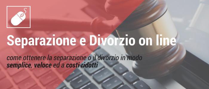 MODULO SEPARAZIONE E DIVORZIO ON LINE
