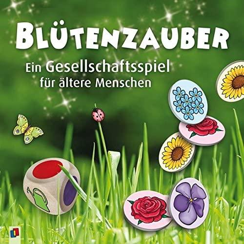 Würfelspiel zum Thema Blumen. Ziel ist die Bepflanzung von Beeten.