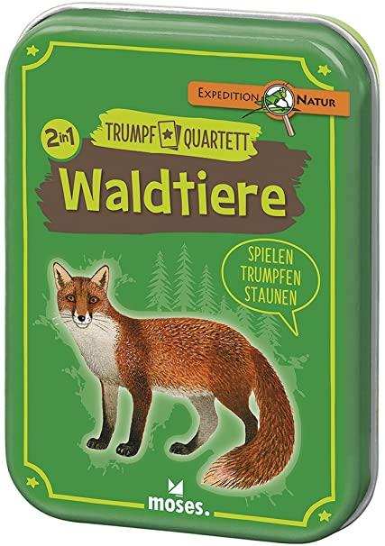 Quartett und Trumpf-Spiel zum Thema Waldtiere