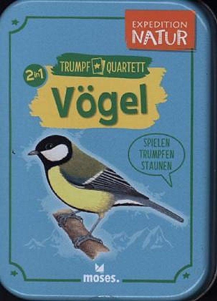 Quartett und Trumpf-Spiel zum Thema Vögel