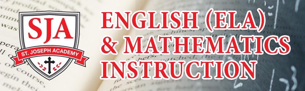 St. Joseph Academy English (ELA) & Mathematics Class Registration
