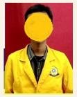 Foto harus menggunakan seragam Almamater dengan ukuran 3 x 4 jpg