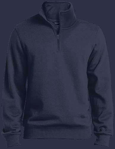 Embroidered 1/4 Zip Sweatshirt Base Cost: $45