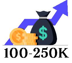 $100,000 - $250,000