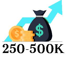 $250,000 - $500,000