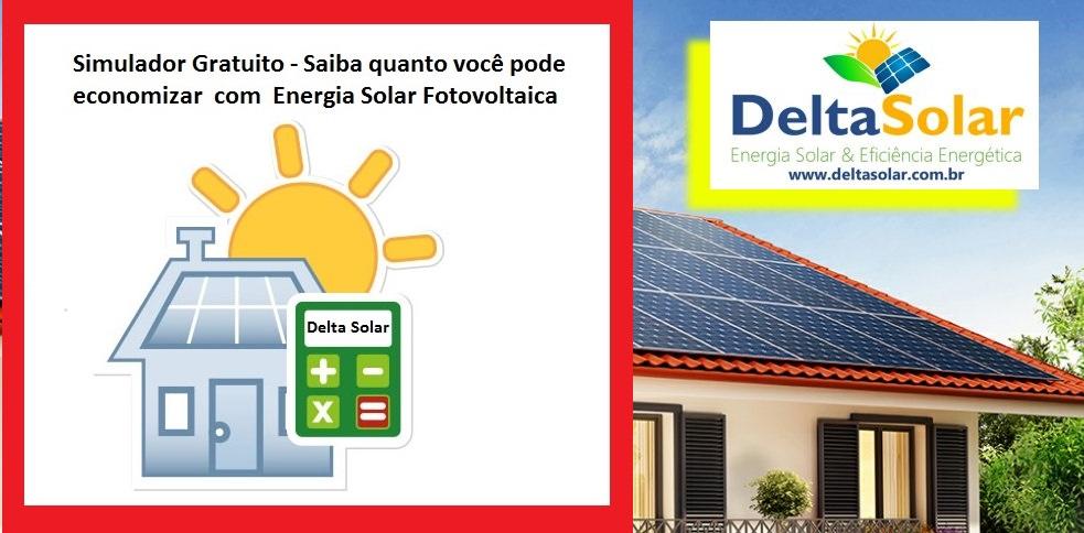 Calcule a economia que você pode obter instalando um sistema fotovoltaico conectado à rede Delta Solar