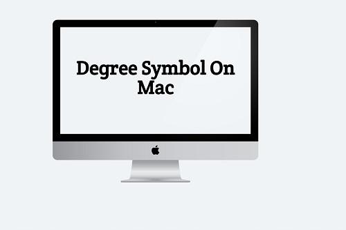 Degree Sign on Mac